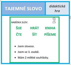 Tajemné slovo pro 3. ročník. Alphabet, Teaching, Activities, Education, School, Dyslexia, Alpha Bet, Schools, Onderwijs