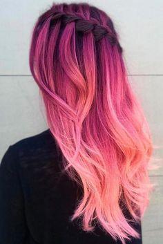 ▷ Trendy hairstyles - modern hair colors and haircuts - beautiful hairstyles, .- ▷ Trendige Frisuren – moderne Haarfarben und Haarschnitte – schöne Frisuren,… ▷ Trendy hairstyles – modern hair colors and … - Cute Hair Colors, Pretty Hair Color, Hair Dye Colors, Ombre Hair Color, Crazy Hair Colour, Elumen Hair Color, Ombre Rose, Hair Color Pink, Long Weave Hairstyles