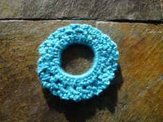 Bright Blue Hair Scrunchie/Hair band by EverythingPrecious on Etsy