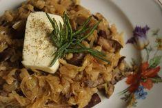 Krúpy v kyslej kapuste s bryndzou - Marek Mráz Food And Drink, Meat, Chicken, Cubs