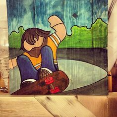 pallet wood canvases