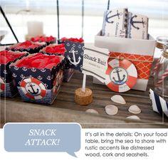 Ahoy Nautical Party Ideas #Anchor #BabyShower #BirthdayParty