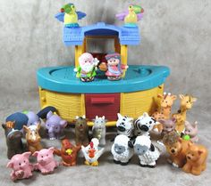 Fisher Price Little People 24 Piece Noah's Ark Playset Animals Fisher Price Toys, Vintage Fisher Price, Vintage Toys, Retro Vintage, Selling On Ebay, Little People, Ark, Toy Story, Old And New