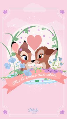 Phone & Celular Wallpaper : Bambi Find more Cute Disney wallpapers for your iPhone Wa Disney Love, Disney Magic, Disney Art, Disney Pixar, Disney Characters, Disney Princesses, Bambi Disney, Cute Wallpapers, Trendy Wallpaper