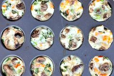 Delicious egg white veggie breakfast muffins are packed with nutrition and protein, low on carbs, and gluten free. Mix and match veggies, cheese, and other add-ins to create your perfect healthy breakfast or snack. Muffin Tin Breakfast, Low Calorie Breakfast, High Protein Breakfast, Healthy Breakfast Recipes, Healthy Snacks, Healthy Eating, Healthy Recipes, Clean Eating, Breakfast Ideas