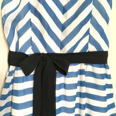 """Silk Chevron Maxi Dress Wear this maxi alone in the summer or under a denim jacket for the spring/fall  Belt loops allow for diff belt options; comes w/ ribbon bow belt (JCrew flower belt sold in separate listing). Measures 40"""" long from sweetheart neckline to bottom hem; 12 1/2"""" pit to pit w/ elastic back that expands to fit larger chests. Lined with an inner layer that ends at the knees. Straps can extend to max 15 1/2"""" long. Empire waist. Excellent condition/worn 1x. Thanks for looking…"""