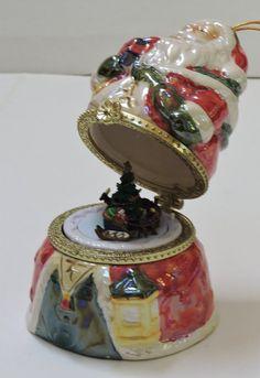 Vintage Musical OrnamentCeramic Plays Jolly Old St by QVintage Music Boxes, Saint Nicholas, Vintage Music, Plays, Vintage Christmas, Musicals, Perfume Bottles, Ceramics, Christmas Ornaments