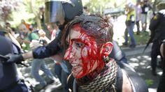 Ocho detenidos y 76 heridos leves en las cargas policiales contra la marcha minera