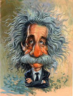 Albert Einstein ...artwork by www.ExaggerArt.com