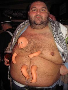 Fat Guy Has Baby Doll Growing Out of Him - CollegeHumor Post