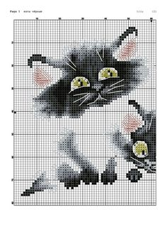 Cross-stitch Playful Kitties, part 1 . no color chart available, just use pattern chart as your color guide. or choose your own colors. Funny Cross Stitch Patterns, Cross Stitch Charts, Cross Stitch Designs, Cross Stitching, Cross Stitch Embroidery, Funny Embroidery, Cross Stitch Animals, Cat Crafts, Tapestry Crochet