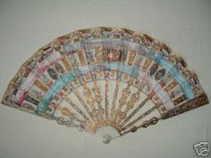 18th century fan celebrating the marriage of Marie Antoinette and Louis XVI