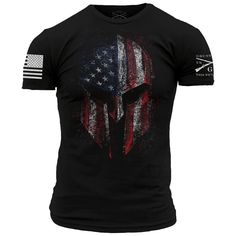 Grunt Style American Spartan Men's T-Shirt, Color Black, Size Large Grunt Style Shirts, Shirt Style, Cool Shirts, Tee Shirts, Patriotic Outfit, Patriotic Shirts, Branded T Shirts, Shirt Designs, Mens Fashion