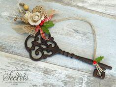Christmas decorative key christmas key decor christmas key