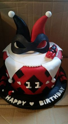 Harley Quinn Theme on Cake Central