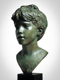 'Julian'  Life-size bronze.  By Mark Richards FRBS