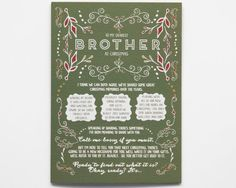 A Christmas card your brother will never forget receiving: the news that hes going to be an uncle!  // Pregnancy Reveal Christmas Card by WrittenInDetail on Etsy