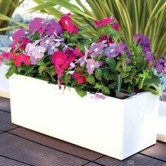 ArteVasi Rimini Rectangular Balcony Planters 2-pack