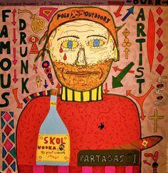 Wahrscheinlich ein Selbstportrait. Mit «Alcoholic Outsider Recovery Insane Art» bezeichnet der 1958 geborene, gemäss seiner Aussage, ursprünglich alkoholkranke Parker Lanier, seine Arbeit.