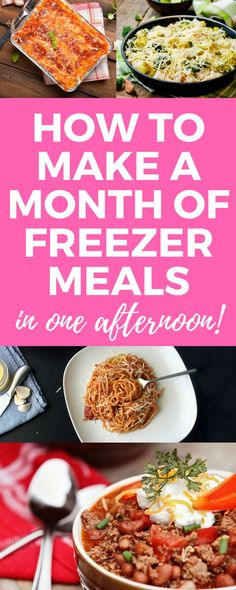 A full, detailed plan on how to make a month of freezer meals in one afternoon! - A full, detailed plan on how to make a month of freezer meals in one afternoon! … – A full, de - Budget Freezer Meals, Make Ahead Freezer Meals, Cooking On A Budget, Freezer Cooking, Frugal Meals, Easy Meals, Inexpensive Meals, Freezer Recipes, Freezer Meal Party