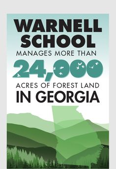 The different properties represent many of the unique habitats found in Georgia, and support the School's programs in teaching, service and outreach, and research of natural resources including but not limited to forestry, wildlife, fisheries, hydrology, ecology, recreation, soils, and forest health.