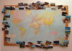 Buy a map and add pictures from all the countries that you visited together