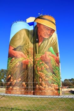 Colquitt, GA Mural on grain bin.