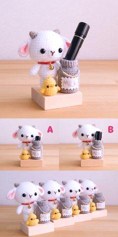 Crochet Sheep, Crochet Amigurumi Free Patterns, Crochet Books, Crochet Doll Pattern, Easy Crochet Patterns, Love Crochet, Crochet Animals, Diy Crochet, Crochet Designs