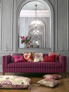 fabric crush: manuel canovas via Design, Darlene Weir Space Fabric, Living Spaces, Living Room, Beautiful Space, Interiores Design, Decoration, Interior Inspiration, Room Inspiration, Home And Living