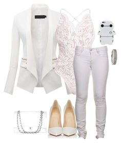 """""""White"""" by lola-guadalupe-delgado on Polyvore featuring Firetrap, Christian Louboutin, Roberto Coin and Chanel"""