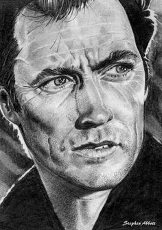 Portrait of Clint Eastwood by Henstepbatbot on Stars Portraits, the biggest online gallery for celebrity portraits. Pencil Drawings, Art Drawings, Celebrity Portraits, Clint Eastwood, Old Movies, Online Gallery, Drawing People, Caricatures, Famous Faces