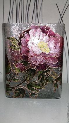 "Купить Ваза для цветов ""Винтаж"" - ваза для цветов, ваза декоративная, ваза для сухоцветов, ваза стеклянная"