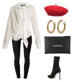 """""""She will!"""" by stephchika ❤ liked on Polyvore featuring J Brand, Jacquemus, Brixton, Francesco Russo and Balenciaga"""
