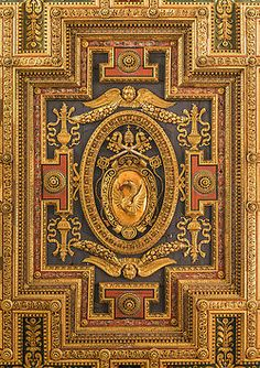 annonavi-barocco: The Coat of Arms of Pope Gregorius XIII, ceiling of the church Santa Maria in Aracoeli, detail, Rome, Italy.