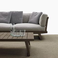 Garden Sofa With Chaise Longue GIO | Sofa With Chaise Longue   Bu0026B Italia  Outdoor,