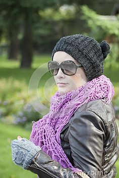 Beautiful woman Ania outdoor