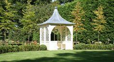 Ardley Gazebo (1800) Garden Buildings, Garden Projects, Garden Ideas, Back Gardens, Trellis, Gazebo, Relax, Outdoor Structures, Plants