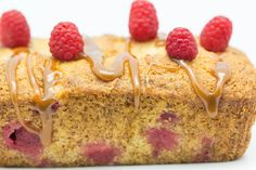 Hovkonditorn: Raspberry-Coconut-Banana Cake..my friend had a muffin  like this in a pastry shop yesterday