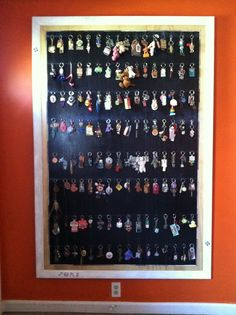 Key chain collection display. I need this!