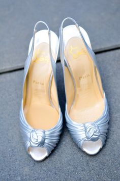 Shoes by Louboutin. Photography by lisafarrerweddings.com