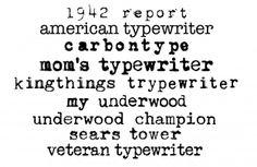 Favorite Typewriter Fonts
