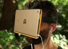 AirVR wants to make virtual reality accessible to iOS device owners by mounting iPhones and iPads right in front of their eyes.