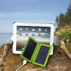 "Solar e-Charger $92.99 ""I bought this a month ago because I fly a lot. Works great on keeping my IPad and smart phone charged while in the air. If you're tired of looking for outlets, then this is for you."""