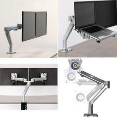 Dual Flat Panel Monitor Swing Arm