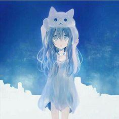 images for anime girls Lolis Anime, Blue Anime, Art Anime, Anime Angel, Anime Art Girl, Anime Love, Anime Guys, Loli Kawaii, Kawaii Anime Girl