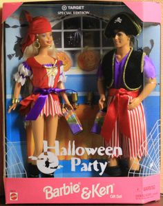 Halloween Party Barbie and Ken Gift Set Target Special Edition 1998 NRFB #DollswithClothingAccessories
