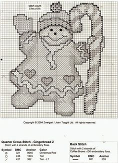 """Lovely heart things: Christmas embroidery: """"Gingerbread"""" (selection)"""
