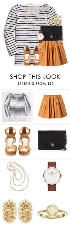 """""""no plans"""" by preppy-southern-gals ❤ liked on Polyvore featuring J.Crew, Uniqlo, Pull&Bear, Tory Burch, Cezanne, Daniel Wellington, Kendra Scott and Kate Spade"""