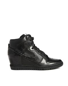 Nike Dunk Sky Hi Black Snake Effect Wedge Trainers  Yeah...so I did this today #ASOS