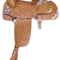 Alamo Oakleaf Tooled Equitation Show Saddle 1